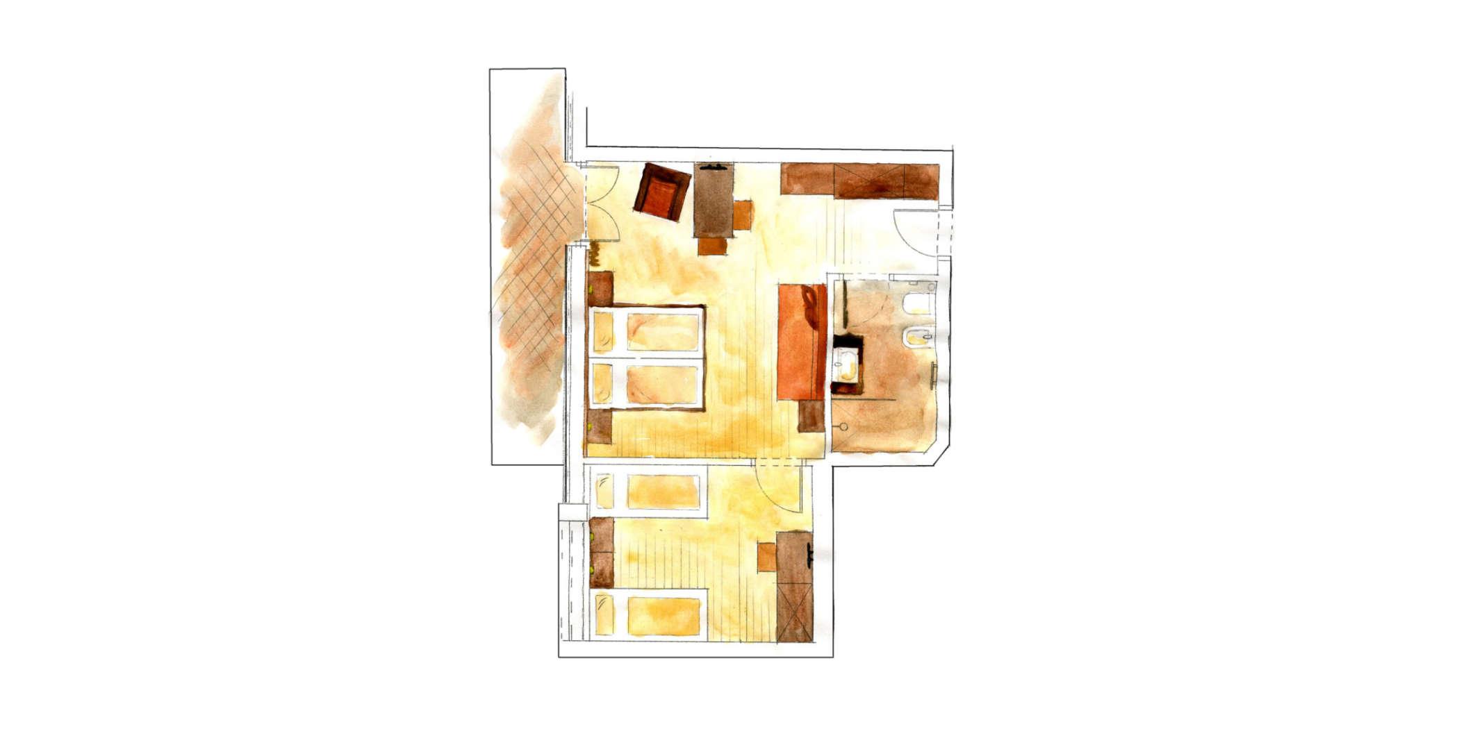 Familienzimmer Adler 3 6 Pers